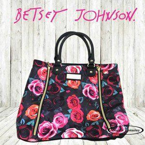 Betsey Johnson Rose Print Expandable Tote